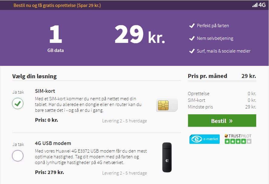 vælg mobilt bredbånd abonnement oister