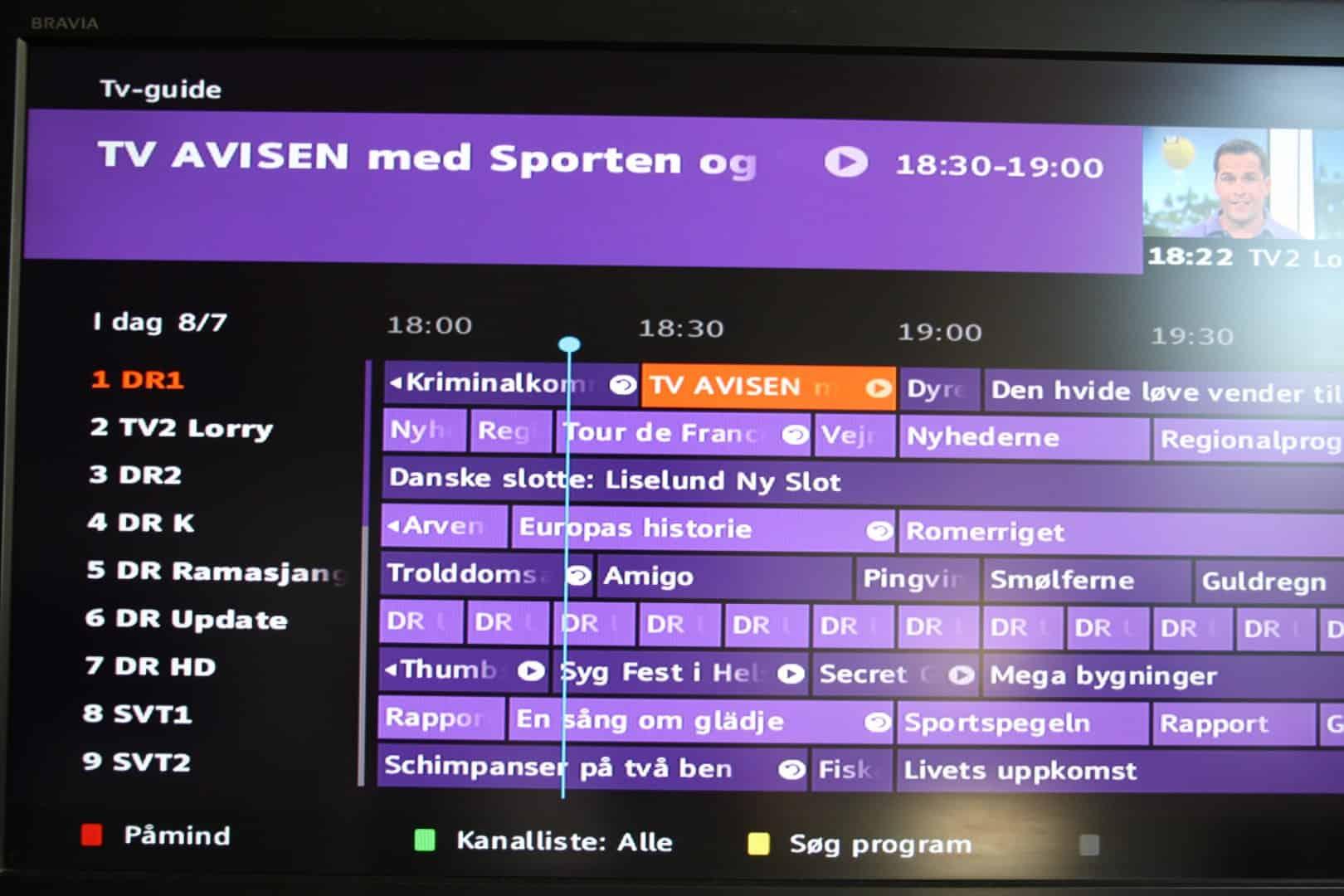 045eeb71 Der er mulighed for at lave påmindelser og på nogle kanaler kan du gå  tilbage i tiden og se programmer, der allerede er sendt igen / forfra  gennem tv ...
